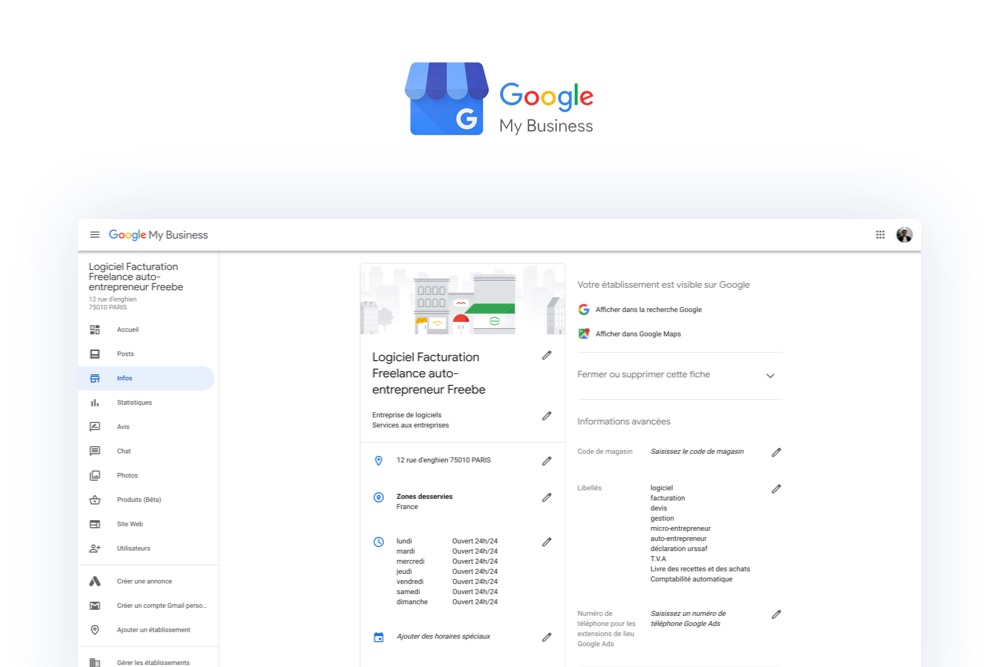 Freebe : Google My Business : un véritable atout pour le référencement local de ta micro-entreprise